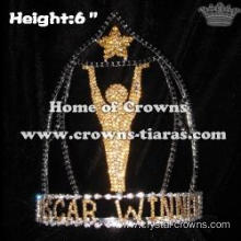 6in Height Crystal OSCAR STAR Pageant Crowns
