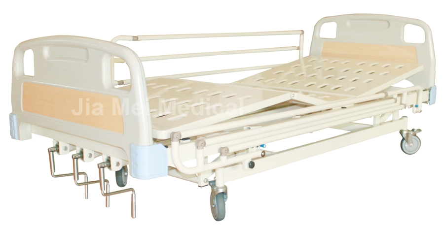 patient bed with three cranks