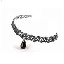Rhinestone Pearl Bead Stone Fabric Leather Lace Choker Necklace