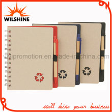 Recycled Paper Notebook with Paper Ball Pen for Promotion (SNB108A)