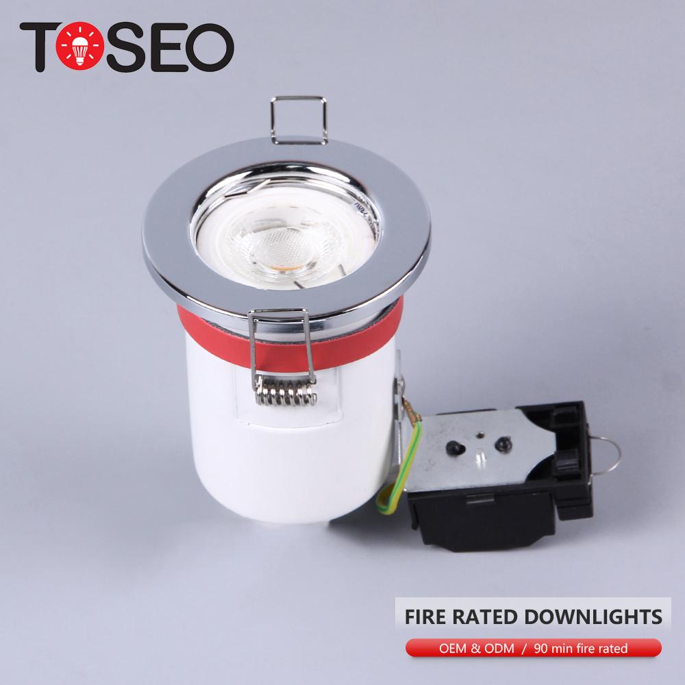 Modern ceiling ip65 firerated led cob down light gu10 BBC standard fire rated lighting fixtures