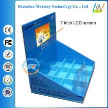 коммерческая реклама поп-дисплея картона с 7-дюймовый ЖК-экран