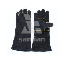 Schwarz Split Leder Ab / Bc Grade Schweißschutzhandschuh mit CE
