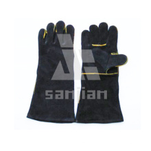 Black Split Leather Ab/Bc Grade Welding Safety Glove with CE