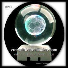 K9 Subsurface 3D Laser Soccer Etched Crystal Ball