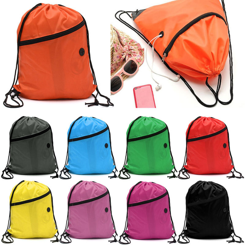 Nylon Drawstring Shoulder Pouches