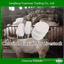 Desinfetante livre de dióxido de cloro para desinfecção de gado