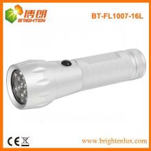 Fabrik-Versorgungsmaterial-heiße Verkaufsaluminium-Material 3aaa Batterie angetriebene 16 führte chinesische beste kleine geführte Taschenlampe