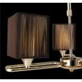 Guzhen Lighting Cloth Square Bedroom Pendant Light Chandelier Lighting for Home Decoration