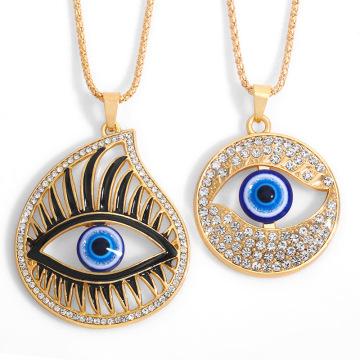Hip Hop Personality Punk Large Turkish Evil Blue Eye Pendant Necklace