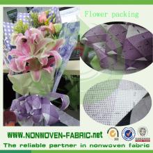 Colores y material de embalaje de flores no tejidas impresas
