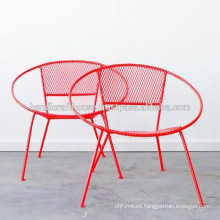 Industrial Metal Chic Color Round Outdoor Chairs