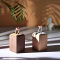 Luxus Hochzeit Schmuckhalter aus massivem Holz