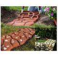 DIY plastic blocks stamp mat paver concrete molds cement brick paving mold