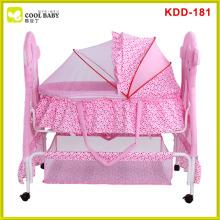 Good quality new design baby metal cradle