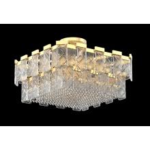 Luz de teto retangular delicada de cristal para quarto moderno