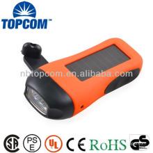 Phone charger 3 led solar dynamo flashlight