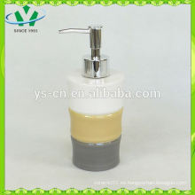 Dispensador de jabón líquido de cerámica de diseño de bambú