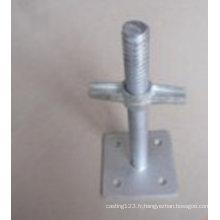 Base galvanisée d'ajustement d'échafaudage chaud d'IMMERSION chaude d'acier au carbone d'OEM pour des pièces de construction