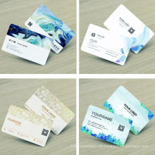 Impresión personalizada de tarjetas de presentación de tarjetas de presentación de papel especial