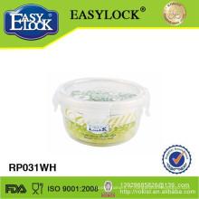 récipients alimentaires en plastique micro-ondes ronds