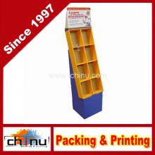 Pappe Einzelhandel Bücher und Zeitschriften Boden Displays Taschenständer (6128)