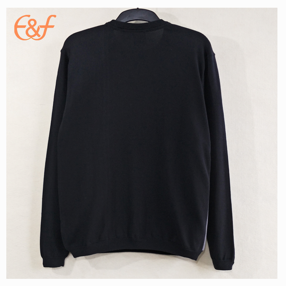 Mens Fashion Crew Neck Pullover Sweaters back look