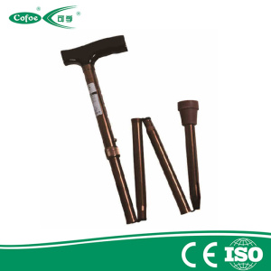 Adjustable folding Aluminium walking stick cane and crutch