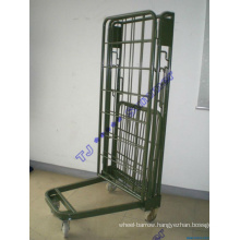 Metal Rolling Security Cage / Foldable Roll Container