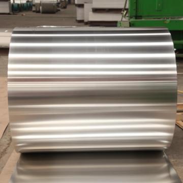 Folha de alumínio usada recipiente
