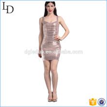 Diseño propio de vestido de lentejuelas bodycon western dress design 2017