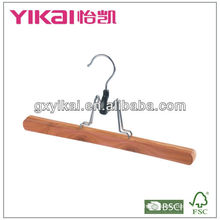 cedar trousers hanger with grooved slats