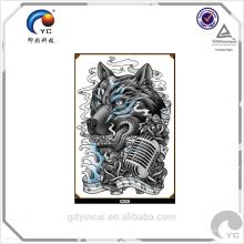 Papel de tatuaje temporal de gran tamaño con alta calidad (diseño personalizado)