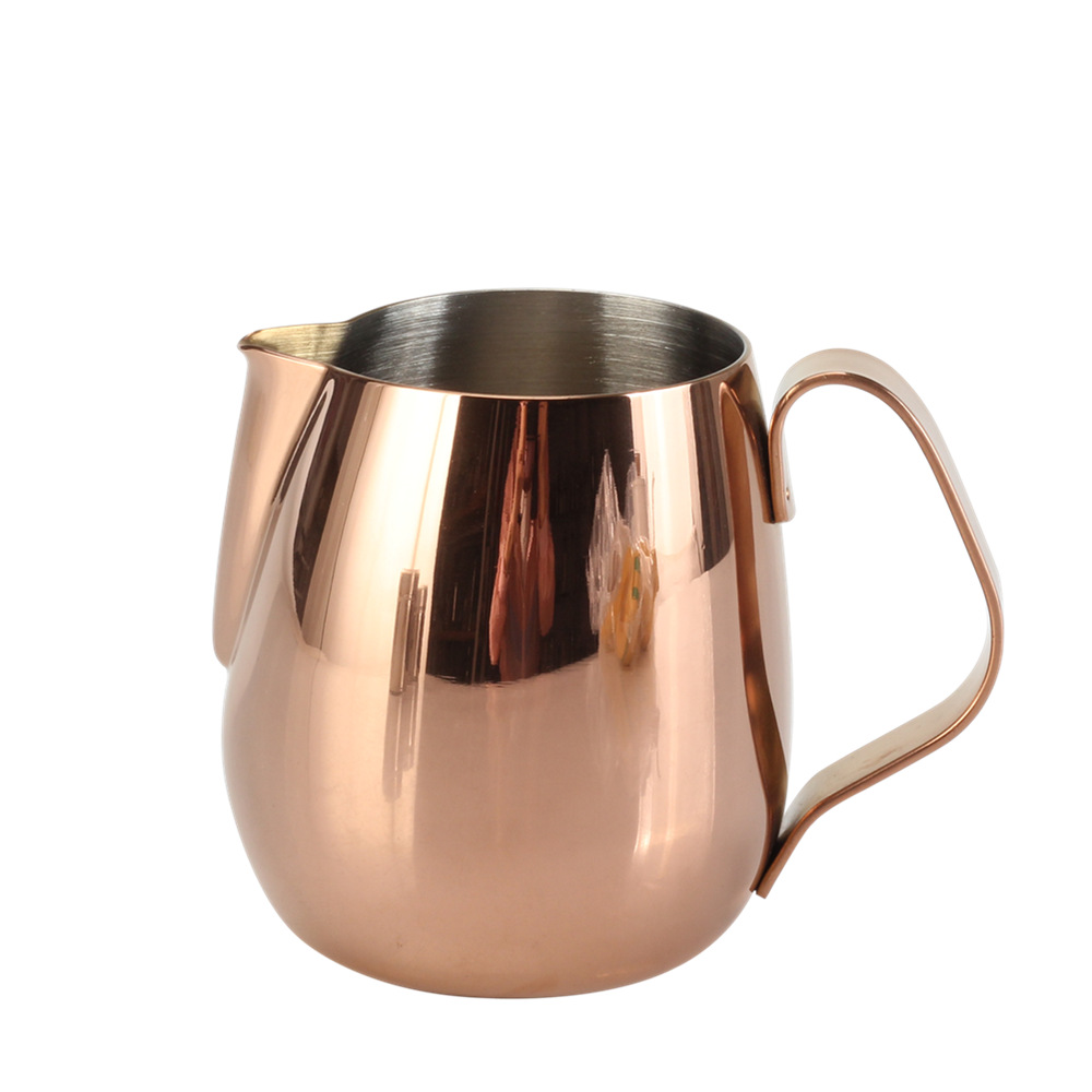 Stainless Steel Milk Jug With Copper Finish