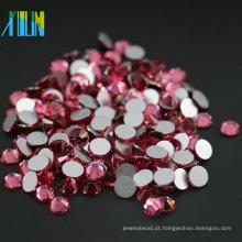O melhor Rhinestone não quente de venda para a decoração, cor cor-de-rosa do reparo da cor lisa lisa do estilo de Rosa de MS131 Rosa