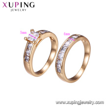 15603-Xuping Jewelry Fashion Combination Finger Ring para Unisex con color oro 18K