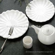 Hotel de porcelana oval en relieve placas de vajilla