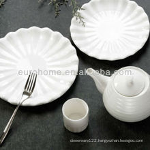 hotel porcelain oval embossed plates crockery