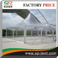 Outdoor Clear PVC Roof Top Aluminum Frame PVC Fabric Hexagon Tent Pagoda Tent Marquee Tent Gazebo Tent