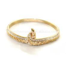Alibaba proveedor 2015 Moda de alta calidad de acero inoxidable chapado en oro pulsera para las mujeres