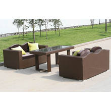 Patio Rattan Pe Rattan Outdoor Modern Sofa Set