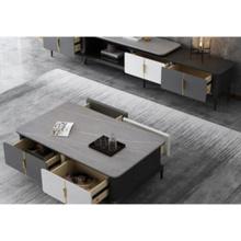 Juego de armario con soporte para TV y mesa de centro para sala de estar