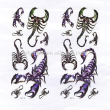 2017 Dernière conception Carzy 3D Cool Scorpion corps autocollant de tatouage pour homme