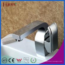 Fyeer Deck - Grifo monomando para ducha de agua caliente y fría, monomando, montaje en cromo