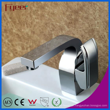 Fyeer Deck Montado Chrome Monocomando Banheiro Hot & Cold Water Mixer Tap