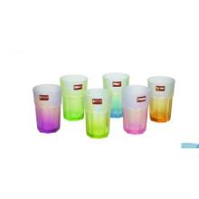 Cor e copo de vidro da água potável da alta qualidade para o vidro do chá