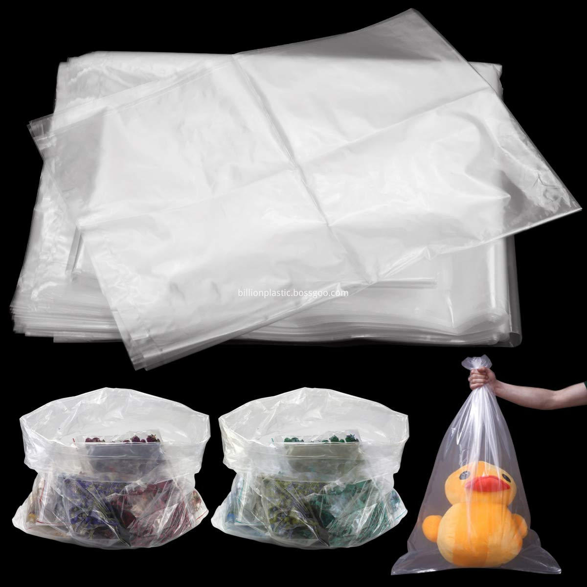 heavy duty clear plastic bags large