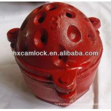Válvula de pie rojo de tipo