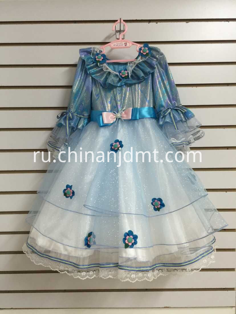 Flower blue dress