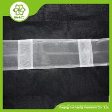 Cabeza de cortina decorativa casera, cinta de la cortina transparente, cinta del gancho, cinta de la cortina